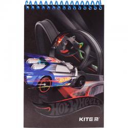 Блокнот пластиковый KITE Hot Wheels HW19-196, 48 листов, нелинованный
