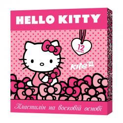 Пластилин восковой 12 цветов Kite Hello kitty HK17-1086