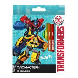 Фломастеры 12 цветов Kite Transformers TF17-047