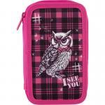 Пенал без наполнения школьный Kite Smart Owl K18-623-3