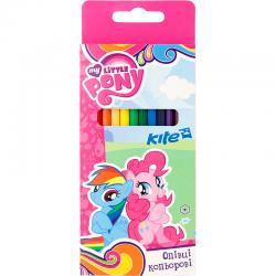 Карандаши шестигранные цветные 12 цветов Kite Little Pony LP17-051