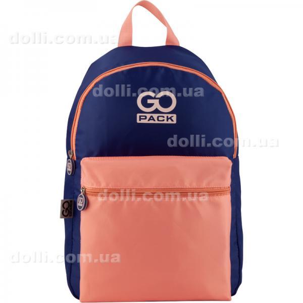 Рюкзак молодежный GoPack City GO20-159L-3 фиолетовый, персиковый