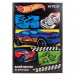 Картон белый односторонний Kite Hot Wheels HW19-254
