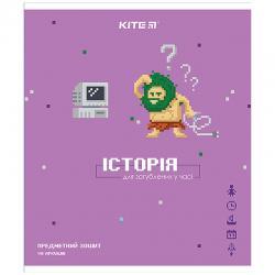 Тетрадь 48 лист., кл., гибр лак з УФ, Pixel, история K21-240-12