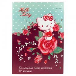 Бумага цветная неоновая Kite Hello Kitty HK19-252