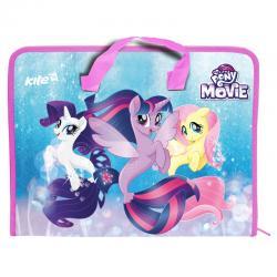 Портфель пластиковый на молнии Kite А4 Little Pony LP17-202-02