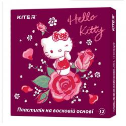Пластилин восковой 12 цветов Kite Hello kitty HK19-1086