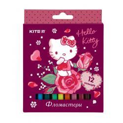 Фломастеры 12 цветов Kite Hello Kitty HK19-047