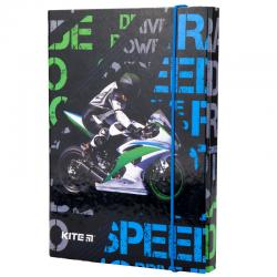 Папка для тетрадей B5, на резинках, картон Kite Racing K19-210-02