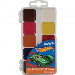 Краски акварельные 10 цветов Kite Hot Wheels HW17-060
