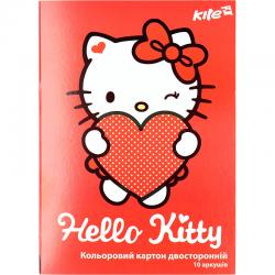 Картон цветной двусторонний Hello Kitty HK17-255