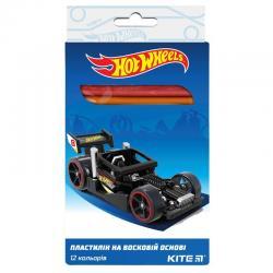 Пластилин мягкий 12 цветов Kite Hot Wheels HW19-086