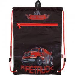 Сумка для сменной обуви спортивной формы с доп. карманом Kite Firetruck K18-601M-5