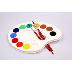 Краски, кисточки,стаканчики