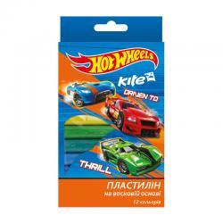 Пластилин мягкий 12 цветов Kite Hot Wheels HW17-086