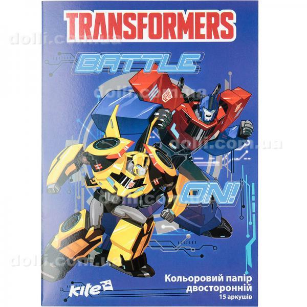 Бумага цветная двусторонняя Kite Transformers TF17-250