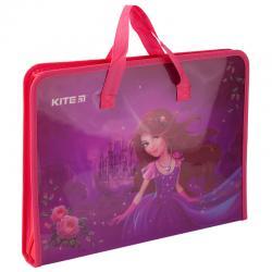 Портфель пластиковый на молнии Kite A4 Princess K19-202-01