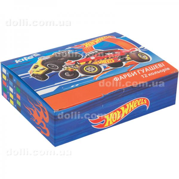 Гуашь 12 цветов 20мл Kite Hot Wheels HW17-063