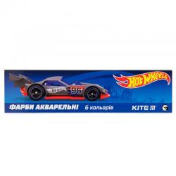 Краски акварельные 6 цветов Kite Hot Wheels HW19-040