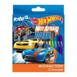 Фломастеры 12 цветов Kite Hot Wheels HW17-047