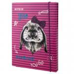 Папка для тетрадей B5, на резинках, картон Kite Fluffy bunny K19-210-01