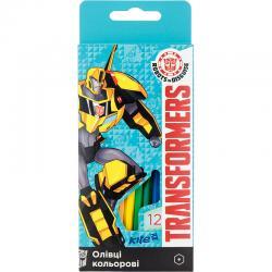 Карандаши шестигранные цветные 12 цветов Kite Transformers TF17-051